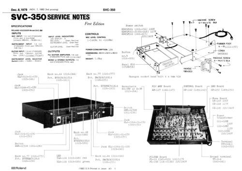 Pay for Roland svc350 svc-350 svc 350 complete service manual