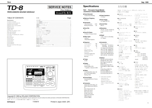 roland td8 td 8 td percussion complete service manual download ma rh tradebit com roland td-8 instruction manual Roland TD 8 Kit