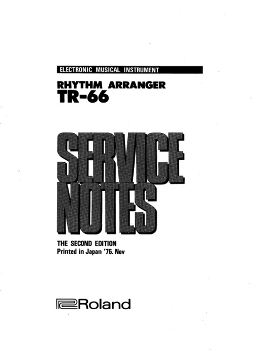roland vs 540 service manual