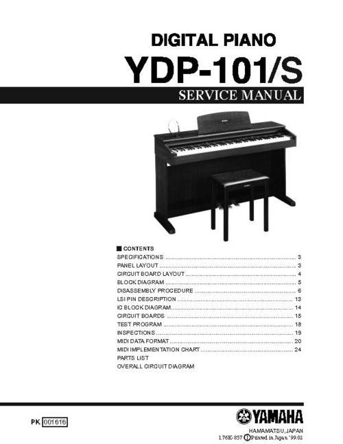 Free Yamaha ydp-101 ydp101 ydp complete service repair manual 101 Download thumbnail