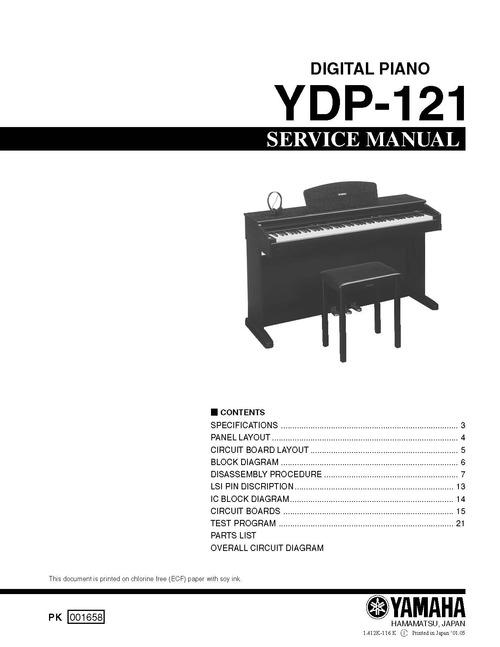 Yamaha Ydp  Manual