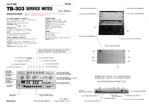 Roland tb-303 tb303 complete service repair manual
