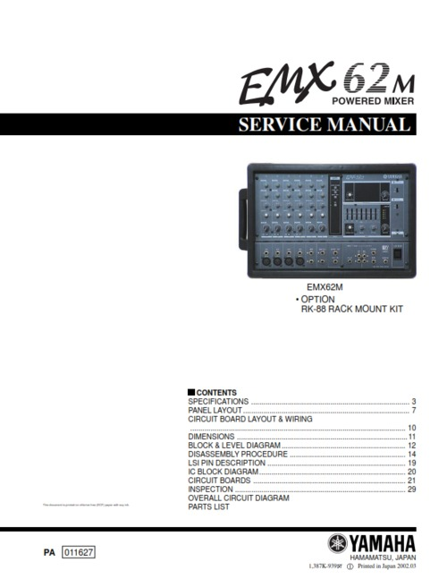 Yamaha Emx Manual Pdf