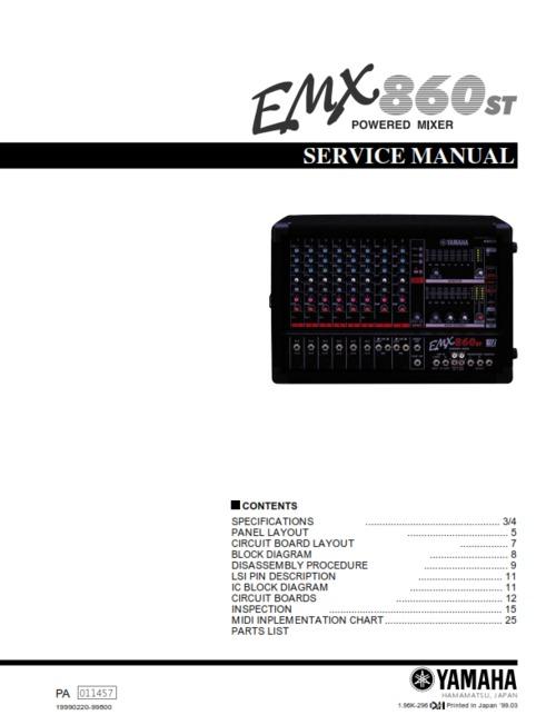 Yamaha Emxc Manual