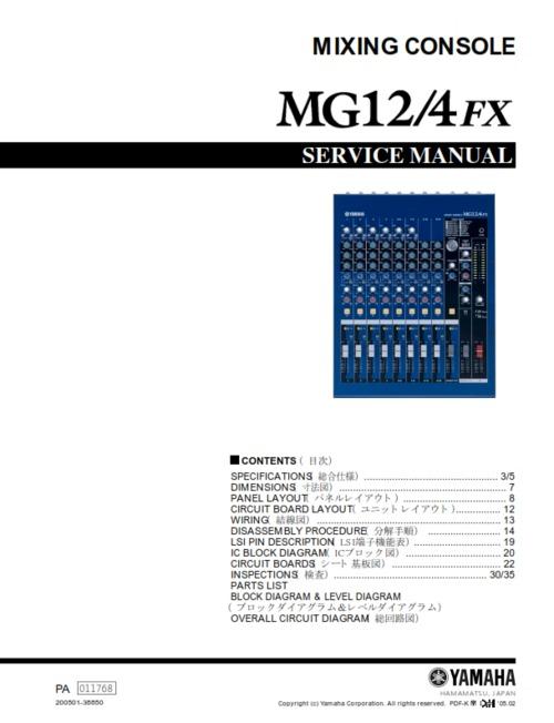 Yamaha Mg Fx Manual Pdf