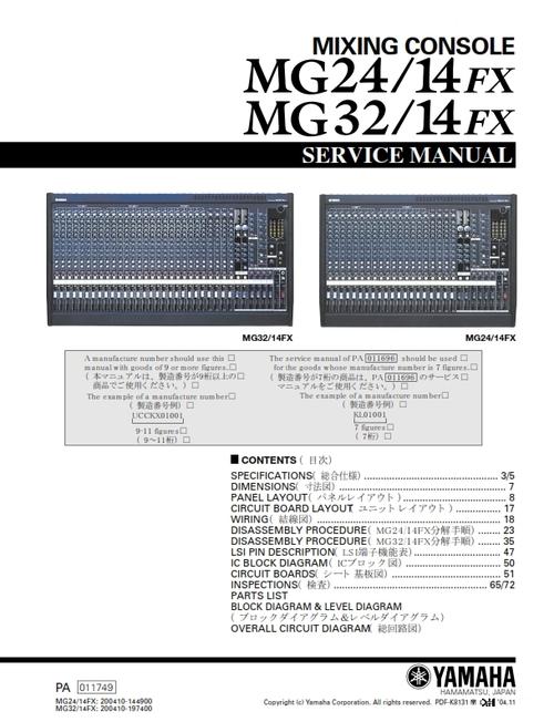 Yamaha mg24-14fx mg32-14fx service manual download, schematics.