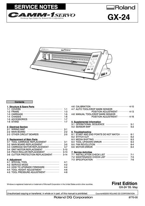 roland gx24 gx 24 camm 1 camm1 service manual complete download m rh tradebit com  roland a90 owners manual