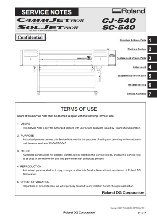 roland cj540 cj 540 sc540 sc 540 camm soljet service manual downl rh tradebit com Manual Book roland sc 540 service manual pdf