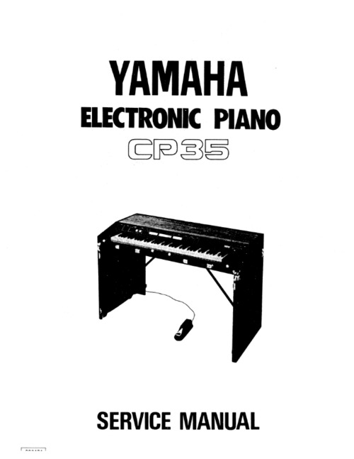 Pay for Yamaha cp35 cp-35 complete service manual