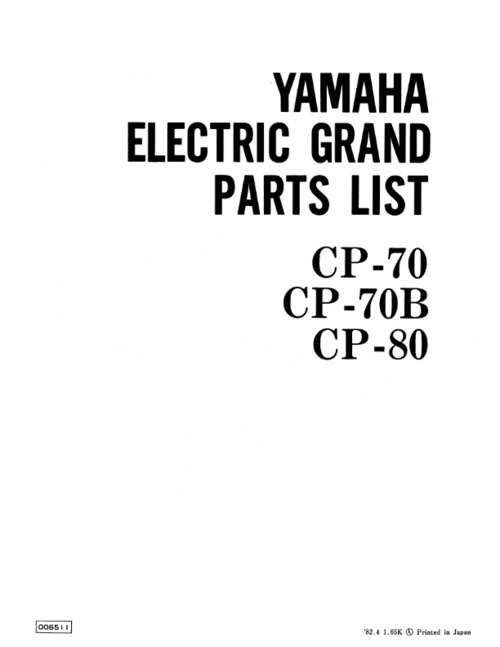 yamaha cp70 cp 70 cp70b cp 70b cp80 cp 80 service manual download rh tradebit com Yamaha Cp70m Yamaha Service Schedule