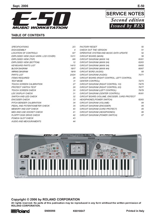 Pay for Roland e50 e-50 E50 E-50 E_50 workstation service manual