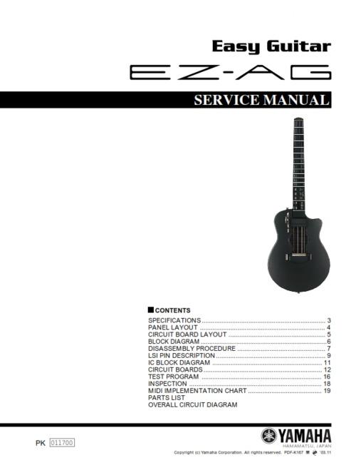 yamaha ezag ez ag easy guitar complete service manual download ma. Black Bedroom Furniture Sets. Home Design Ideas