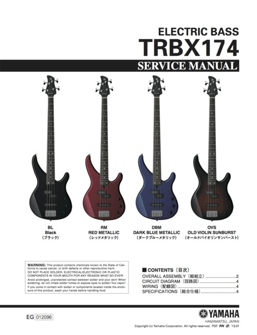 Yamaha trbx174 trbx 174 trbx electric bass service manual downloa pay for yamaha trbx174 trbx 174 trbx electric bass service manual cheapraybanclubmaster Image collections