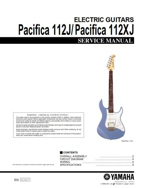 yamaha pacifica 112j 112xj 112 j 112 xj full service manual downl rh tradebit com