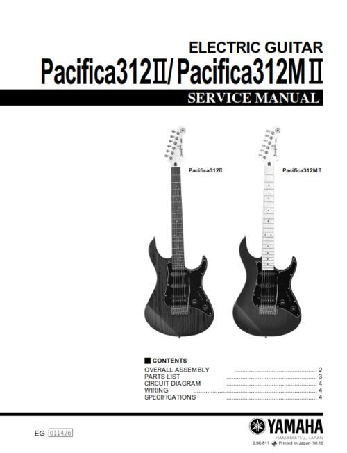 pay for yamaha pacifica 312 312ii 312mii 312-mii service manual full