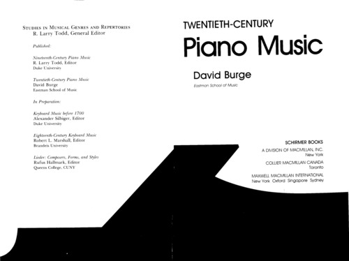 Pay for 20th Century Piano Music