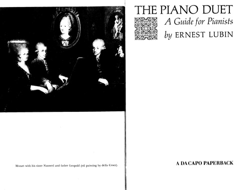Pay for The Piano Duet Ernest Lubin
