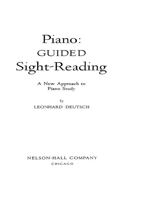 Pay for Piano Guided Sight Reading Leonhard Deutsch
