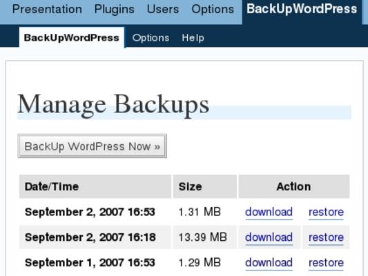 Pay for Backup Wordpress Robot
