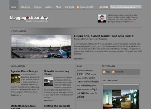 Pay for wordpress premium theme( bloggingstream) From WOO