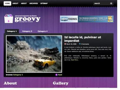 Pay for wordpress premier theme(Groovy Blog)
