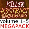 Thumbnail Killer Abstract Backgrounds v1-5 MegaPack