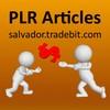 Thumbnail 25 wealth Building PLR articles, #147