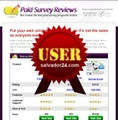 Thumbnail Paid Survey Review Site with User Right