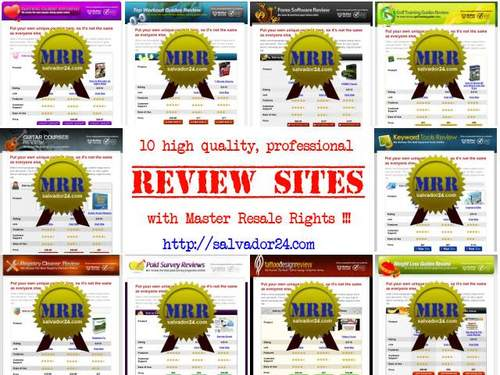 View Professional Review Site Collection (10 Sites, MRR) in my tradebit store