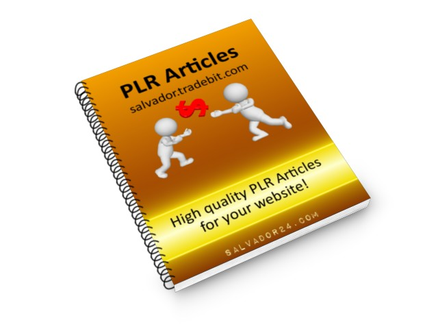 View 25 supplements PLR articles, #9 in my tradebit store