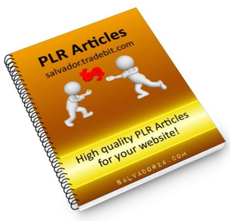 View 25 weight Loss PLR articles, #31 in my tradebit store