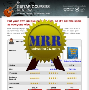 View Guitar Review Site with MRR (Master Resale Rights) in my tradebit store