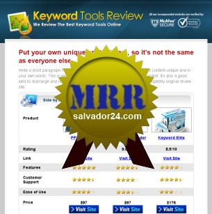 View Keyword Research Review Site with MRR (Master Resale Rights) in my tradebit store