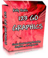 Thumbnail *NEW* 123 Go Graphics With Master Resell Rights - Simple-But-Powerful System That Can Do All The E-Cover, CD & Membership Pass Works For You