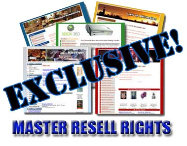 Pay for 85 Exclusive Niche Sites With Master Resell Rights - Virtual Real Estate Empires With Google Adsense