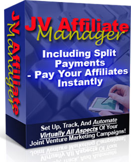 Pay for JV Affiliate Manager With Master Resell Rights - Set Up, Track And Automate Joint Venture Campaigns