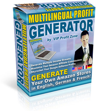 Pay for Multilingual Profit Generator - Generate Own SEO Amazon Stores in English, French & German