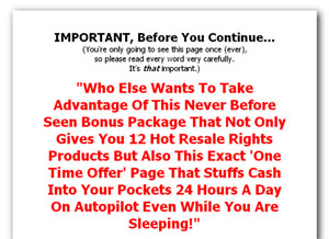 Pay for One Time Offer Jumbo Package 1 - Twelve Hot Resale Rights ´OneTime Offer´ Stuffs Cash Into Your Pockets