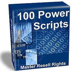 Pay for 100 Power Scripts- With Resell Rights - Contains A Whopping 114 Scripts