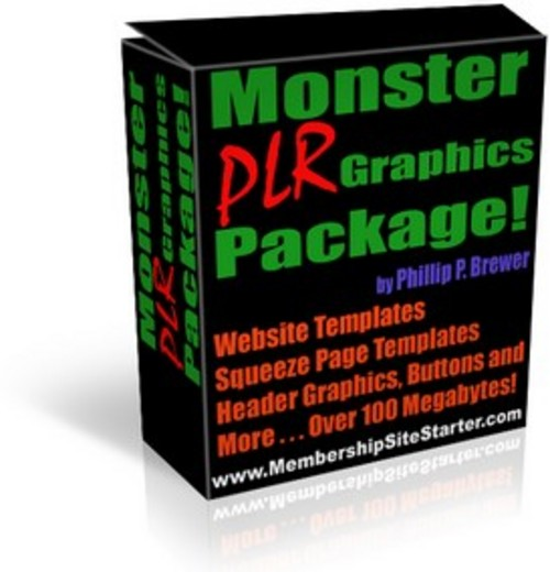 Pay for PLR Graphics Pack - ecover, headers, minisite templates