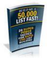 Thumbnail Make Me A 50,000 List Now