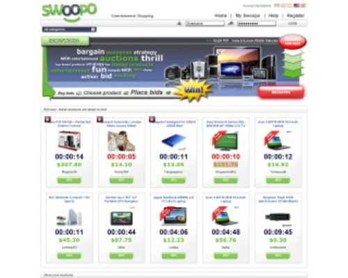 Pay for Swoopo Clone Php Website Script auction bid penny auction