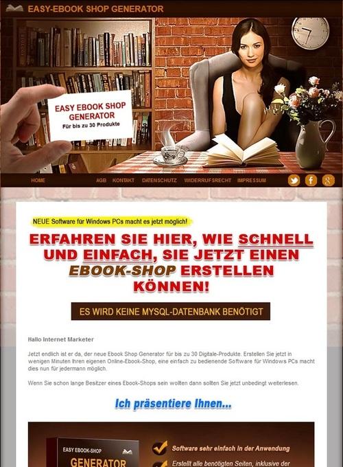 Pay for Easy Ebook Shop Generator - Ebookshop TOP!!