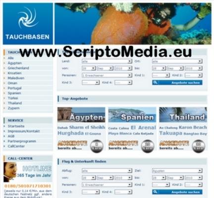 Pay for PHP Tauchbasen Reiseportal Script