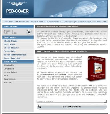 Pay for PSD Cover Shop Script inkl. Reseller Verkaufsartikel