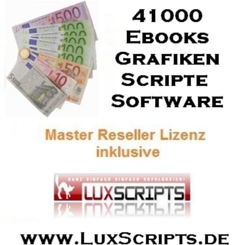 Pay for 41000 Ebooks, Scripte & Grafiken inkl. Resellerrechte