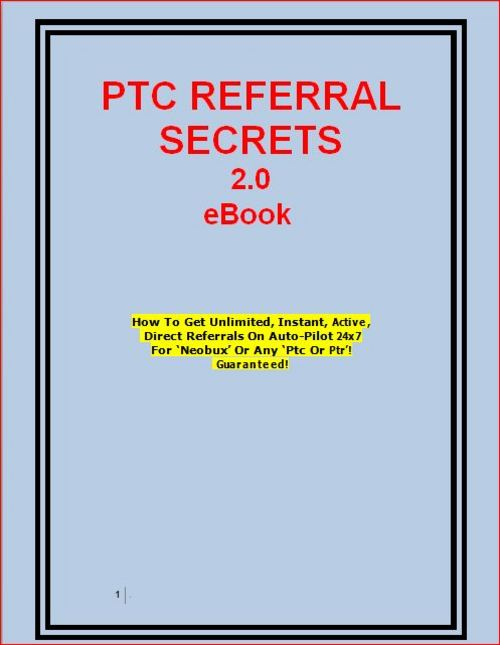 Pay for PTC Referral Secrets eBook