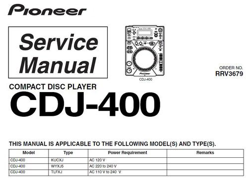 pioneer cdj 400 service manual download download manuals te rh tradebit com pioneer-djm-400-service-manual-pdf pioneer cdj 400 manuale italiano