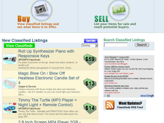Pay for PHP Classifieds Ad Script (with Thumbnails/enlarged photos)