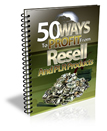 Thumbnail 50 Ways To Profit From PLR Products